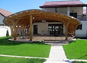 Terase din lemn masiv de brad la comanda